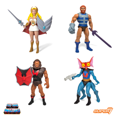She-Ra, Fisto, Mantenna, Grizzlor – Masters of the Universe Club Grayskull 4-Pack