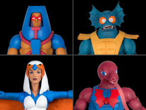 Sorceress / Man-E-Faces/ Mer-Man/ Tung Lashor – Masters of the Universe Classics Club Grayskull