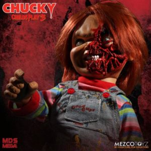 Child's Play 3 Mezco Designer Series Talking Pizza Face Chucky – MEZCOTOYZ
