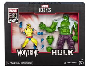 Marvel Comics 80th Anniversary Marvel Legends Hulk Vs. Wolverine Two-Pack